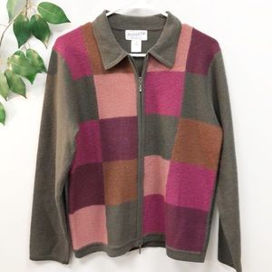 Pendleton Sweaters - PENDLETON | Wool Colorblock Cardigan Sweater